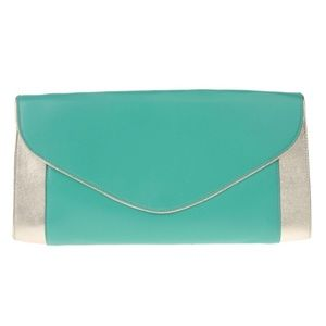 SPACE Italian Made Large Leather Clutch Bag